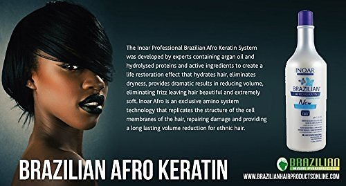 Brazilian Afro Keratin One Step Treatment | Probably The Best Smoothing System | Volume Reducer 1L (1000ml) by Afro Keratin (Image #3)