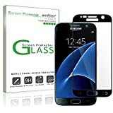 Galaxy S7 Screen Protector Glass (Full Screen Coverage), amFilm Bye-Bye-Bubble Samsung Galaxy S7 Tempered Glass Screen Protector [NOT S7 Edge] Screen Protector 2016