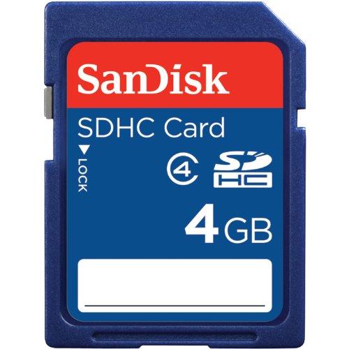 SanDisk SDHC Memory Card Bonus MicroMate Reader 4.0 GB SDSDB