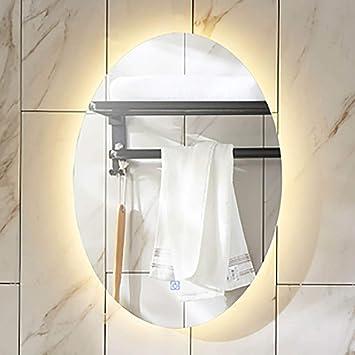 LED-leuchten beleuchtet Badezimmer Spiegel oval mit Sensor ...