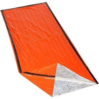 Sansund - Saco de Dormir térmico Impermeable de Emergencia para Actividades al Aire Libre, Supervivencia, Senderismo, Camping