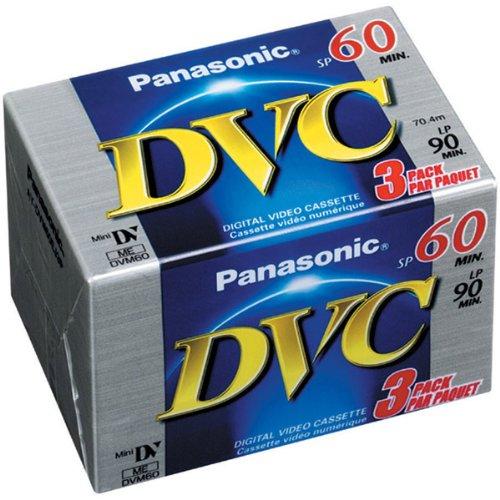 Panasonic AY-DVM60EJ3P Mini Digital Videocassette (60 Minute, 3 Pack) by Panasonic