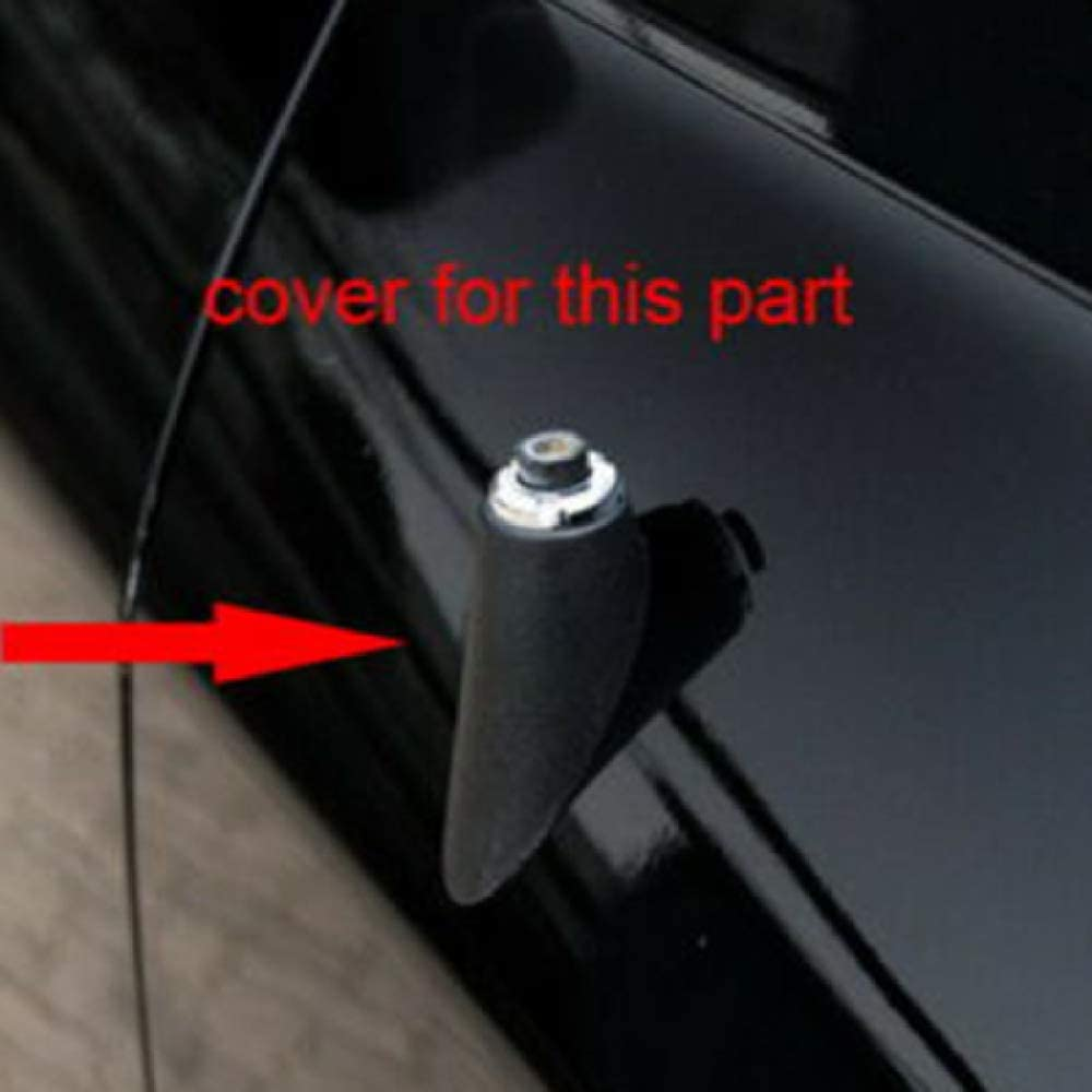 Verkleidung der Auto-Chrom-Antennenabdeckung KWWBLX Autoantenne F/ür Dodge RAM 1500 2500 2011-2017