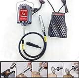 TOPCHANCES SR 110V Hanging Flexshaft Mill Motor Jewelry Design & Repair Kits 4mm (Red)