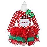 NNJXD Toddler Baby Girls Christmas Dress Xmas Tutu Santa Claus Pattern Red Dresses