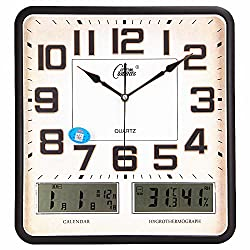Quietness @ Modern Colorful Creative Silent Non-ticking Wall Clock Calendar /20 inch/2999 square black Dual Graphics