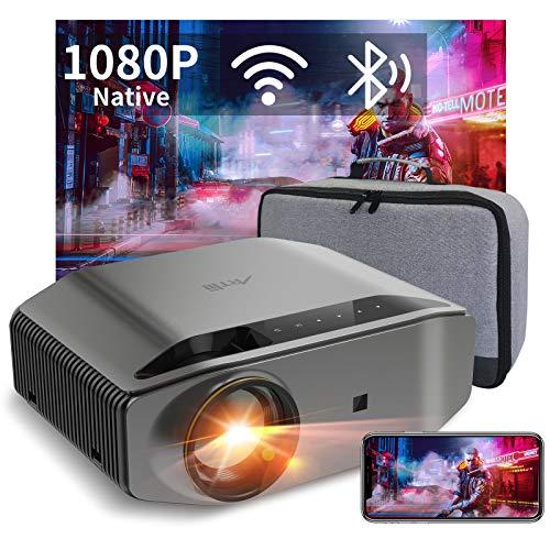 Beamer Full HD WiFi Bluetooth, Artlii Energon2 Native 1080P Projector, 4K Ondersteund, 2.4G / 5.0G WiFi, Max 300″ Scherm, Home Cinema Video Projector Compatibel met iOS, Android, TV Stick, PS4, X-Box, Laptop, Smartphone