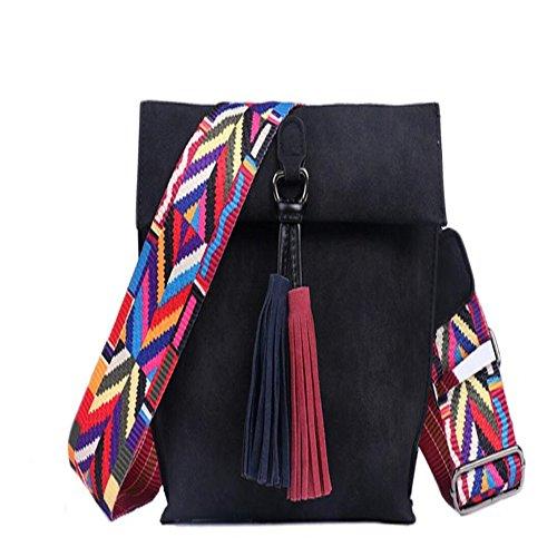 Crossbody Square Ribbon Meaeo Borsa Bag Small Ribbon A A Casual Scrub Retro Bag AwqIxH6Yq