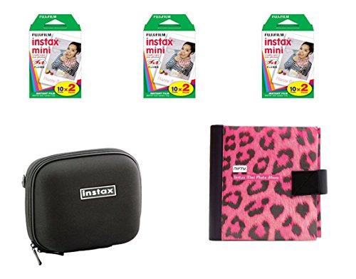 Fujifilm Instax Mini Camera Essentials Kit: Case, Pink Photo Album and Film (60 images) by MPC