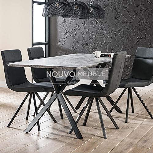 M-001 mesa de comedor moderno efecto hormigón Nine 2: Amazon.es: Hogar