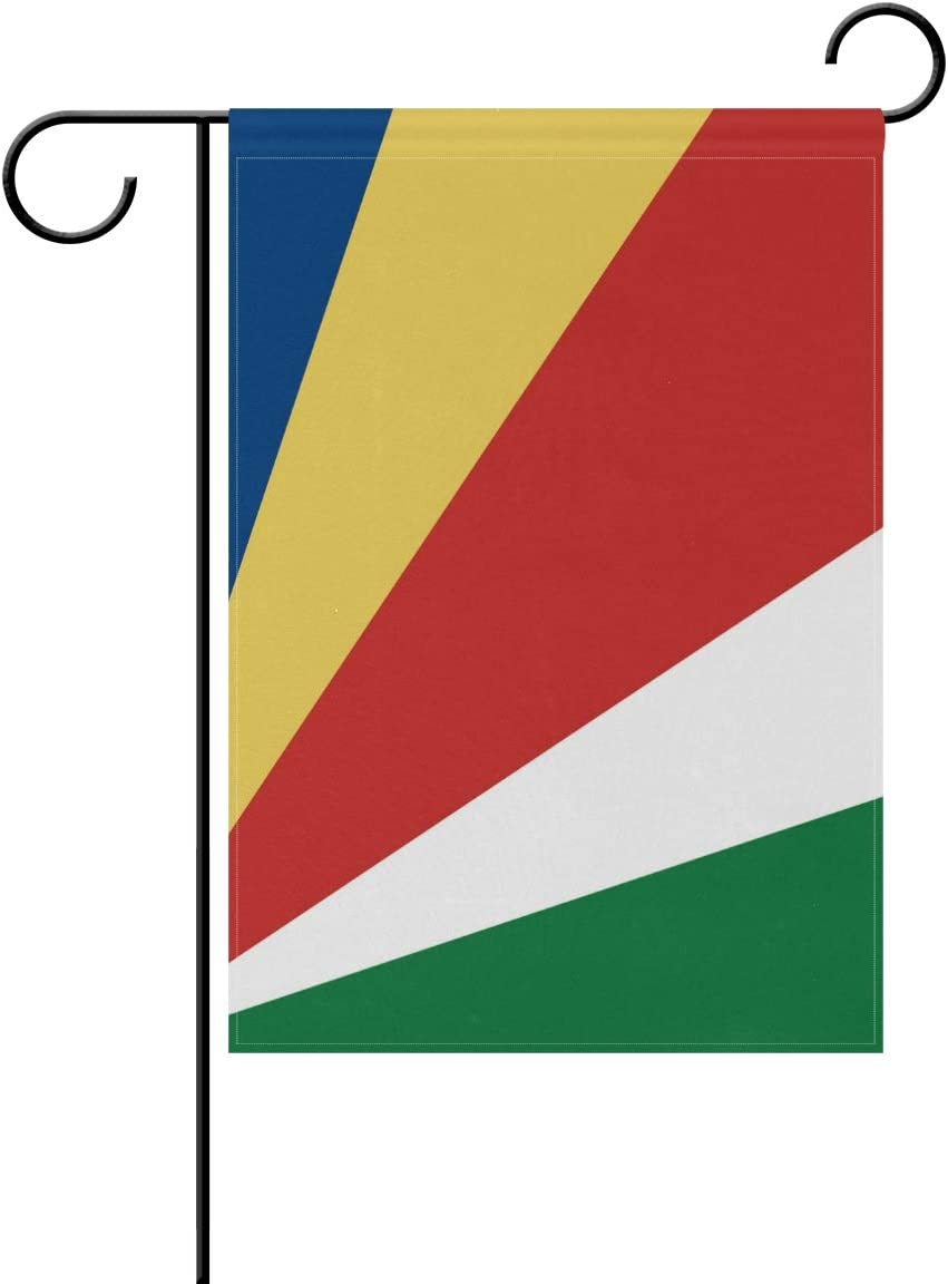 Ainans Decorative Hello Welcome Seychelles Flag Garden Yard Flag Banner For Outside House Flower Pot Double Side Print 40 X 28 12 X 18 Inch Black Garden Outdoor