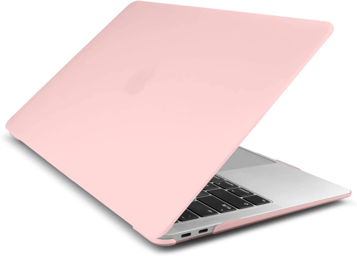 Dongke Smooth Matte Frosted Hard Shell Cover for MacBook Air 13 Inch with Retina Display fits Touch ID, Air 13 Inch Case 2020 2019 2018 Release Model: A2179/A1932 (Frost Solid Pink)
