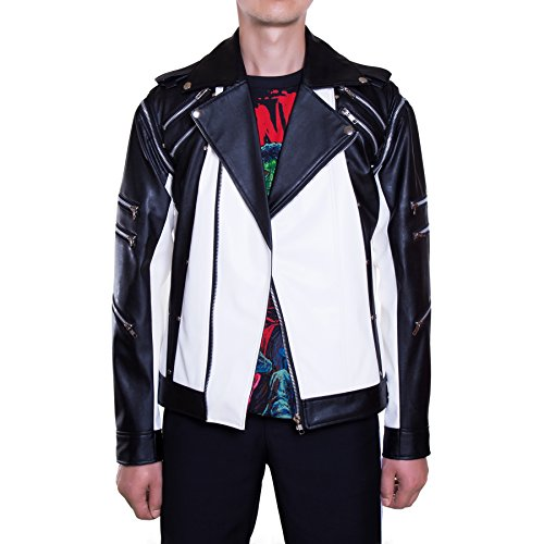 MJB2C Michael Jackson Costume - Pepsi Metal Zipper Leather Jacket - XXX-Large -