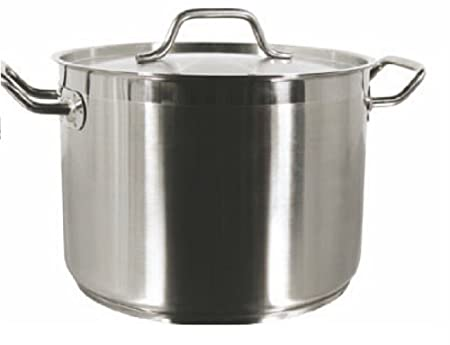 STOCK POT W LID 18 8 STAINLESS STEEL MULTIPLE SIZES 8 qt TO 100 qt 32 qt