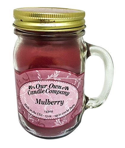 Our Own Candle Company Mulberry Scented 13 Ounce Mason Jar Candle ()