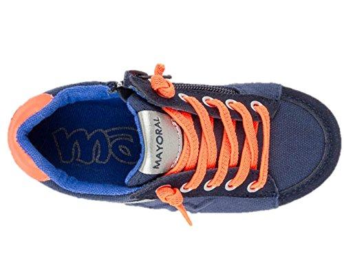 Mayoral 43813 - Zapatillas infantil niño marino combinado cierre cremallera City