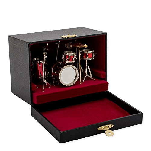 red-drum-set-music-instrument-miniature-replica-on-stand-size-5-x-5-x-4-in