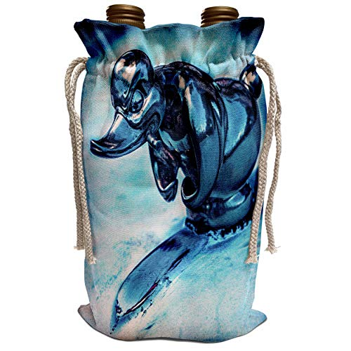 3dRose Chris Lord Automobilia - Duck Hood Ornament Vintage - Wine Bag (wbg_123844_1)
