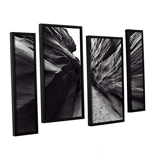 ArtWall Vlad Bubnov's 'Dark Chocolate' 4-Piece Floater Framed Canvas Staggered Set 36x54