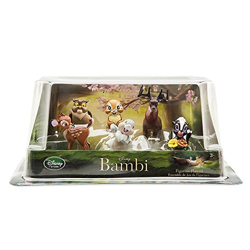 TOP Satisfied Bambi Thumper Flower Playset 7x Pack Figure Cake Topper Toy Doll Set Raspberry Mrs. Bunny Thumper