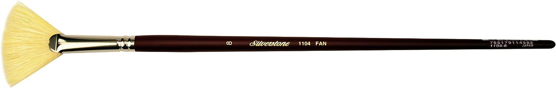 Size 8 Silver Brush 1104-8 Silverstone Excellent Long Handle Hog Bristle Brush Fan