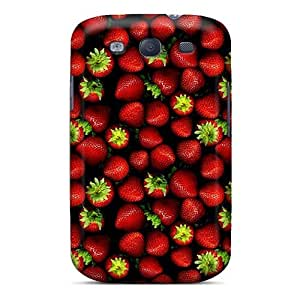 Anti-scratch And Shatterproof Strawberry Phone Case For Galaxy S3/ High Quality Tpu Case
