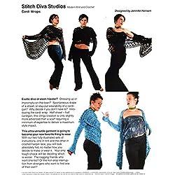 Stitch Diva Studios Knit & Crochet Pattern - Cardi Wraps (1 Version to Knit, 1 Crochet in Hairpin Lace)