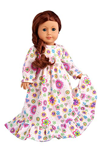 DreamWorld Collections - Good Night - Cotton Nightgown - Clothes Fits 18 Inch American Girl Doll (Doll Not Included)