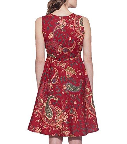 Vêtements Coton Imprimé Dress, lavable en machine, W-CPD42-1610, Taille-42 pouces