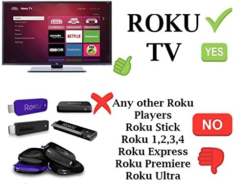 Original Hisense Roku TV Remote w/Volume Control & TV Power Button for All  Hisense Roku TV (Roku Built-in TV, NOT Roku Player Connect w/TV)