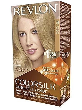 revlon colorsilk coloration des cheveux n74 medium blonde 591 ml amazonfr beaut et parfum - Revlon Coloration
