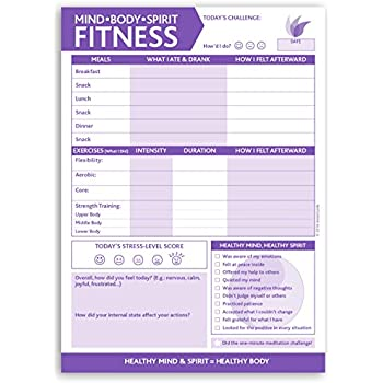 InnerGuide Planners, Mind - Body - Spirit FITNESS, 90-Page, Daily Tear-Off Planning Note Pad (6.5 x 9) The 5-Minute Life Makeover!