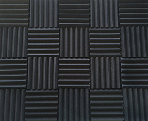 soundproofing acoustic studio foam kit wedge style panels 2 x12 x12 tiles 4 pack bundle. Black Bedroom Furniture Sets. Home Design Ideas