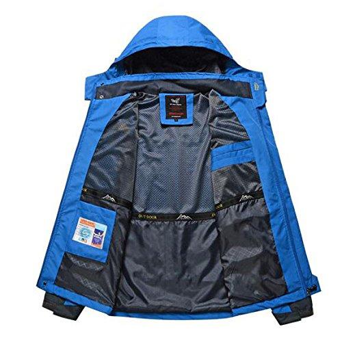 Shell Uomo Cappuccio Outdoor Traspirante Dimensioni Da Grandi Vento Sport Impermeabile Giacca A Qscg Soft Blue Con Di qZwxCpBUC