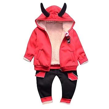 6deaa606840fc Boomdan Baby Boy Coat+Pants Outfits Long Sleeve Hoodie Tops Sweatsuit Pants  Headband Outfit Set