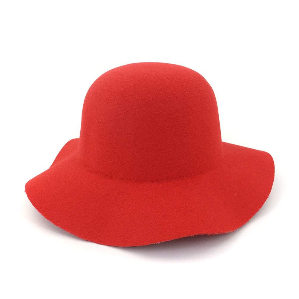 HUPLUE Women's Wool Wide Brimmed Hat Dome Felt Floppy Hat Vintage Women Warm Hat