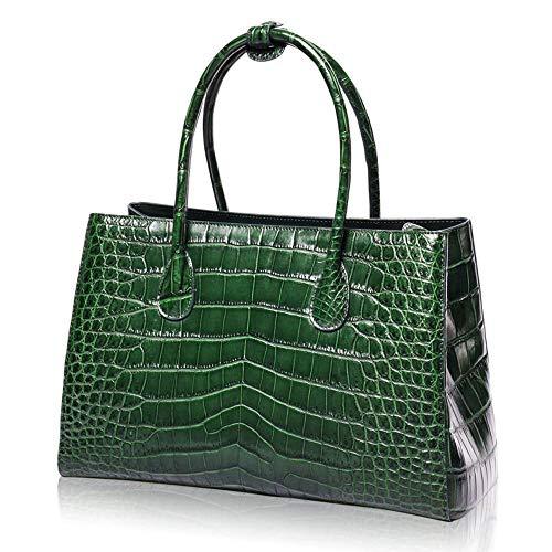 Peau Sacs Cuir à C Sac Main Femme capacité Zipper pour Crocodile green WWAVE Dames Sac Grande Nouvelle Sac Ladies 0d4TxWdq