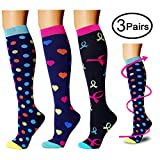 Compression Socks (3 Pairs), 20-25 mmHg is Best Athletic & Medical for Men & Women, Running, Flight, Travel, Nurses - Boost Performance, Blood Circulation & Recovery (Assorted 1, Small/Medium)