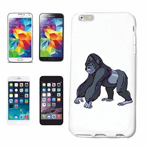 caja del teléfono iPhone 7+ Plus FELIZ GORILA MONO Chimpancé del GORILA posterior de la plata APE CHARLY MONKEY KING KONG Caso duro de la cubierta Teléfono Cubiertas cubierta para el Apple iPhone en