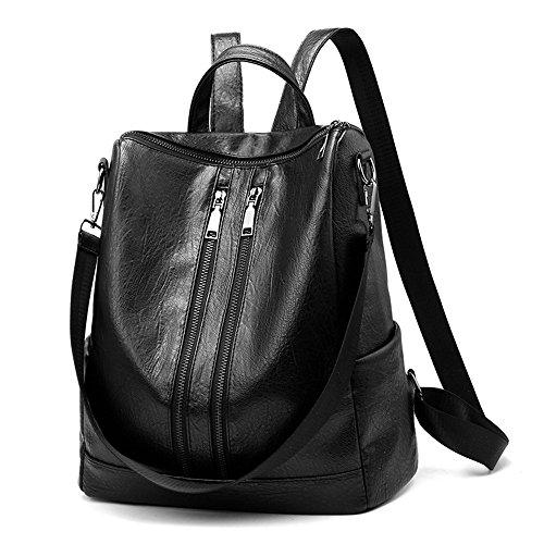 Hot Meaeo Elegante Mochila Nuevos Confort Mochila black Informal Bag Brown Mochila FqwxUT5q