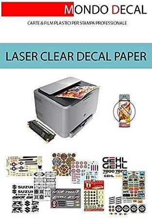 PAPEL para CALCAS al AGUA sin cover-coating, impresora LASER, 3 ...