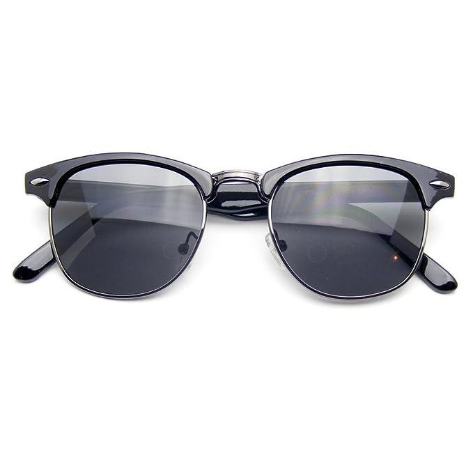Amazon.com: Emblema Eyewear – Classic mitad Frame borde de ...