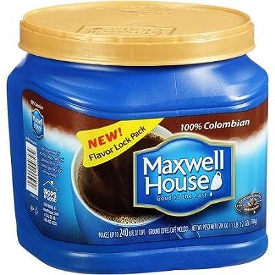 Maxwell House 100% Colombian Medium Dark Ground Coffee, 28 oz