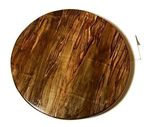 Spalted Ambrosia Maple Wood Lazy Susan, 14 or 16 in diameter