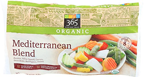365 Everyday Value, Organic Mediterranean Blend (Zucchini, Yellow Squash, Carrots, Green Beans, Red Peppers, and Onions), 16 oz, (Frozen)