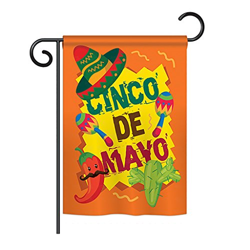 Ornament Collection G192025 Cinco de Mayo Decorative Vertical House Flag, 13