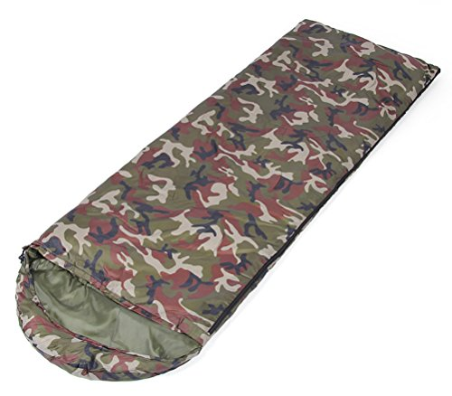 ChezMax Outdoor Lightweight Portable Sleeping Bag Camping Sleeping Bag with Carrying Bag Envelope Sleeping Bag for Travel ,Hiking, Camping Camouflage Coolmax Mummy Liner