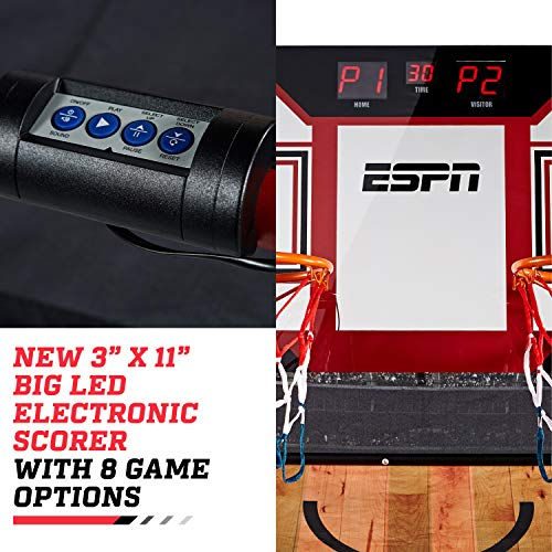 ESPN EZ Fold 2 player Basketball Game with Polycarbonate Backboard and LED Scoring by ESPN (Image #7)