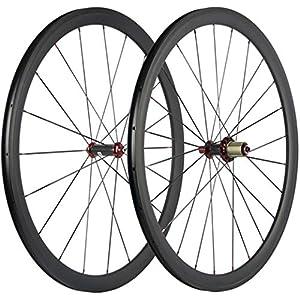 JIMAITEAM-700C-Bicycle-Wheelset-38mm-Depth-Clincher-Carbon-Road-Bike-Wheels-Matte-23mm-Width-Racing-Bike-Wheel-with-Powerway-R36-Hubs