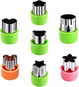 Orapink Fruit Cookie Cutters Shapes Set 7 Pieces Vegetable Cutter for Baking Mini Cookie Stamp Mold Food Decoration Tools